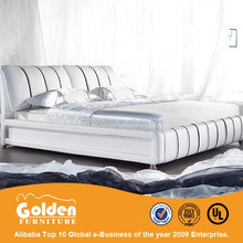 2015 new design UK hot sale king size sleigh bed G855