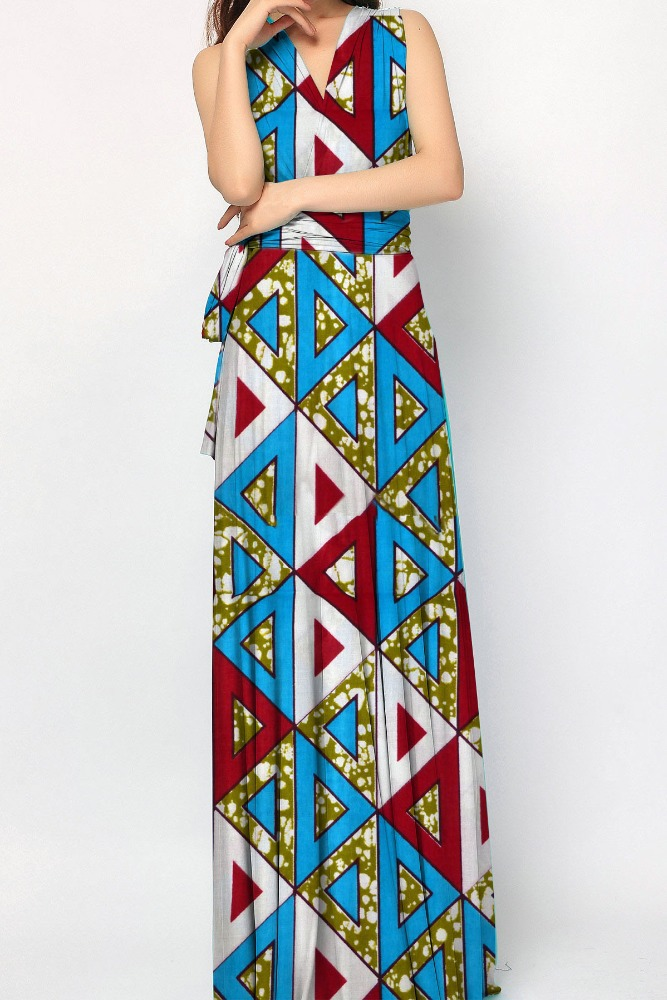 customized designs women clothing african wax print maxi long dresses