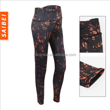Women Print Yoga Sports Pants High Elastic Wicking Force Exercise Tight Female Sports Fitness Running Trousers Slim Leggings XXL