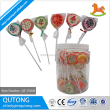 Sliced Fruits Flat Handmade Lollipop