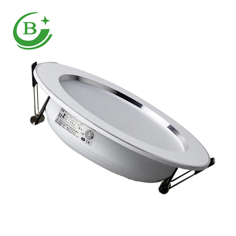 Round isolation led downlight 9w led straw hat series downlight