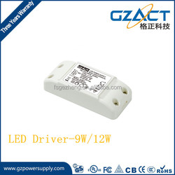 CE RoHS 100-240Vac 300/500/700mA constant current led driver low ripple 12w led power supply