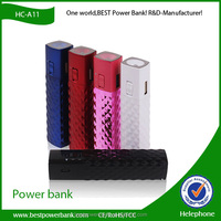 HC-A11 fashion USB charger lipstick 2200mah with flashlight power bank