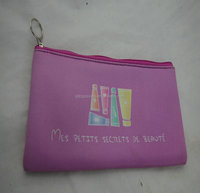 Lastest exquisite little neoprene pencil case with zipper