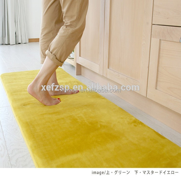 100% polyester rubber backed washable rugs anti fatigue kitchen mat