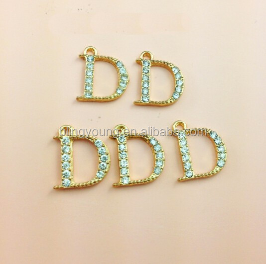 DIY jewelry crystal rhinestone letter love charms
