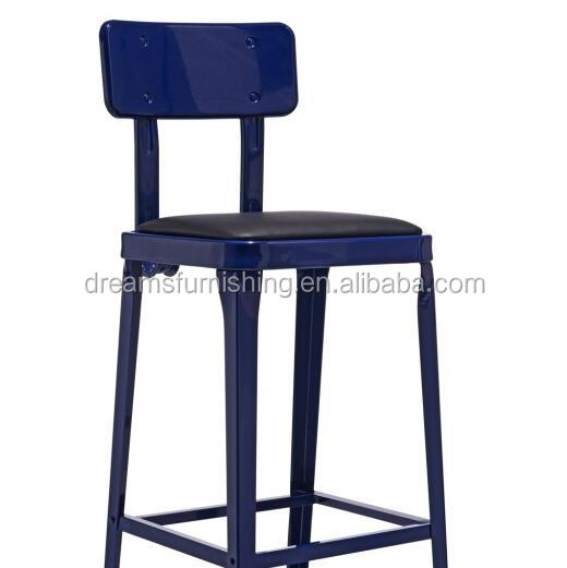 navy blue metal bar stool for art work studio