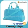 Excellent design washing fabric blue travel bag