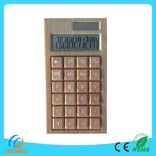New Design Novelty 12-Digit Desktop Solar Bamboo Calculator