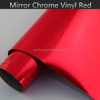 1.52*20M Car Body Wrapping Decal 3M Red Chrome Vinyl Film