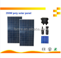 High Efficiency and Good Quality 250W poly pv moudle, Poly Solar Panels, for home use, with A grade solar cells