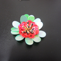 Beatiful colorful Sequin sewing patch flower