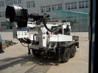 bore hole trailer-mounted water well drilling machine SLY400-T with yanmar engine