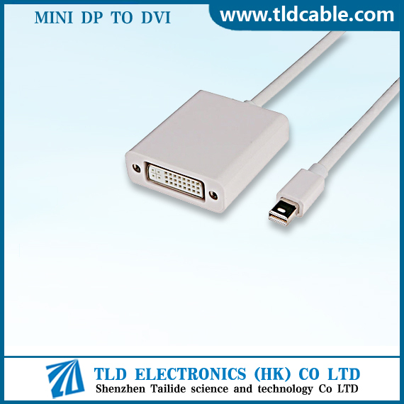 Certificated Guangdong High Quality Mini DP To DVI Cable adapter