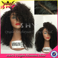 Fashion high quality kinky curly wigs dreadlocks wig lace front wig