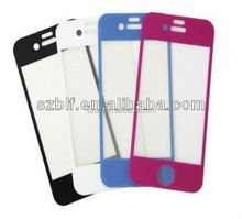 High crystal clear tempered glass color screen protector for iphone 5