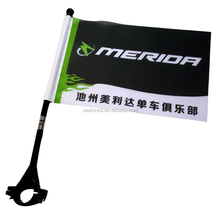 cheap new custom football club bicycle safety flag for advertising