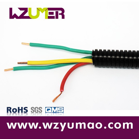 WZUMER Plastic Flexible Type PE Corrugated Cable Tube for Power Station