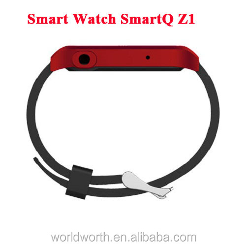cheapest bluetooth watch mobile 100% Original SmartQ Z1 Smart Watch For Iphone / Samsung Galaxy Note3 WIFI Bluetooth Android 4.3