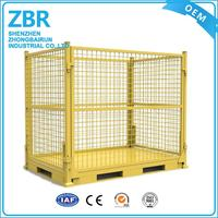 Euro galvanized collapsible stackable wire mesh cage