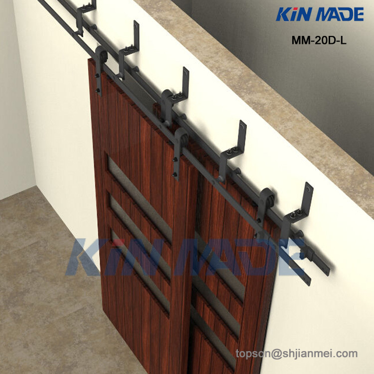 6ft 6.6ft 8ft bypass sliding barn door hardware kits top mounted trolley interior sliding door fittings