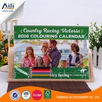 Custom design home decoration coloring calendar for children