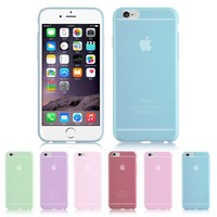 Slim Thin Ultra Clear Soft TPU Rubber Case Cover For Apple iPhone 6 4.7""