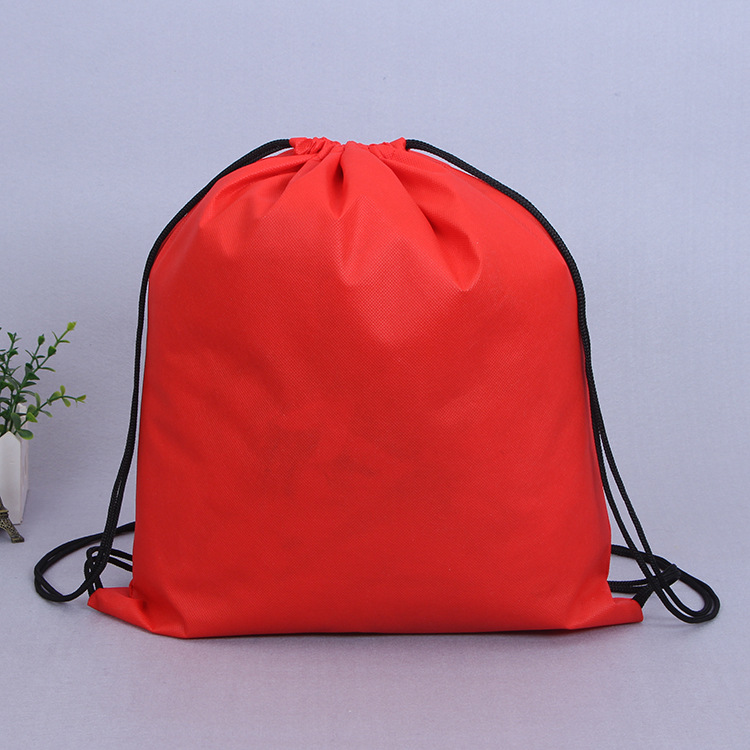 Customized Logo Printed Eco-friendly Shoes Bag,No Woven Drawstring Bag
