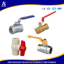 Different types all size ball valves used for oil gas and water