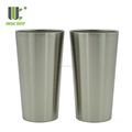 16oz Double Wall Stainless Steel Adventure Stacking Vacuum Pint Glass For Beer Outdoor