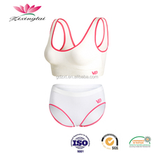 Factory wholesale underwear women sexy ladies seamless one piece bra and panties