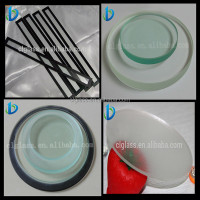 2mm 3mm 4mm 5mm round tempered frosted glass light cover/lamp shade/lamp cover supplier