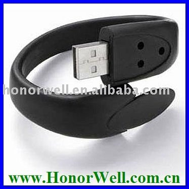 New Premium Black Bracelet 16gb Usb Storage