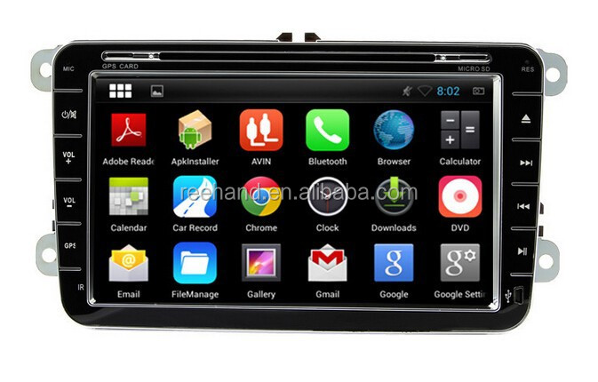 Dual Core Double Din 8 Inch Android 4.4 Car Multimedia Player for VW MAGOTAN,SAGITAR,TOURAN,GOLF