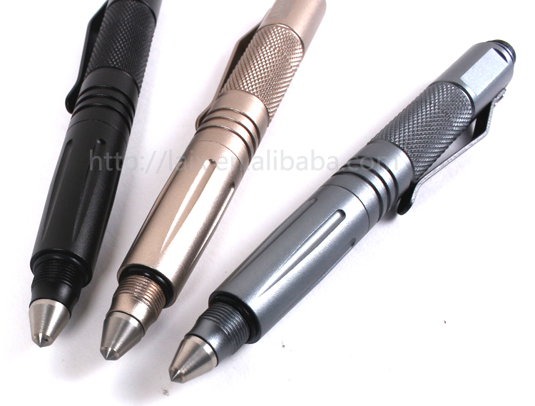 outdoor multifunction survival tool with knife tactical pen touch screen stylus