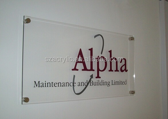 wall acrylic sign