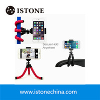 hot flexible camera phone holder octopus mini tripod universal for all cell phone with phone mount