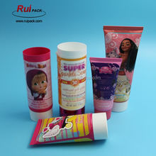 soft cosmetic tube packaging with labelling, facial foam/cream packaging