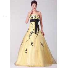 Z92352A Hot Sale Off Shoulder Yellow Mermaid Sweetheart Love Forever Wedding Dress Sexy Girl's Wedding Dress