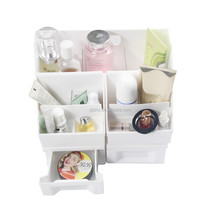 2018 Newest Popular Clear Plastic Large DIY Cosmetic Organzier Makeup Organizer With Drawers
