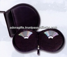 ADACD - 0018 new design round dvd case / eco friendly bag for cd / fine leather dvd's cd holder