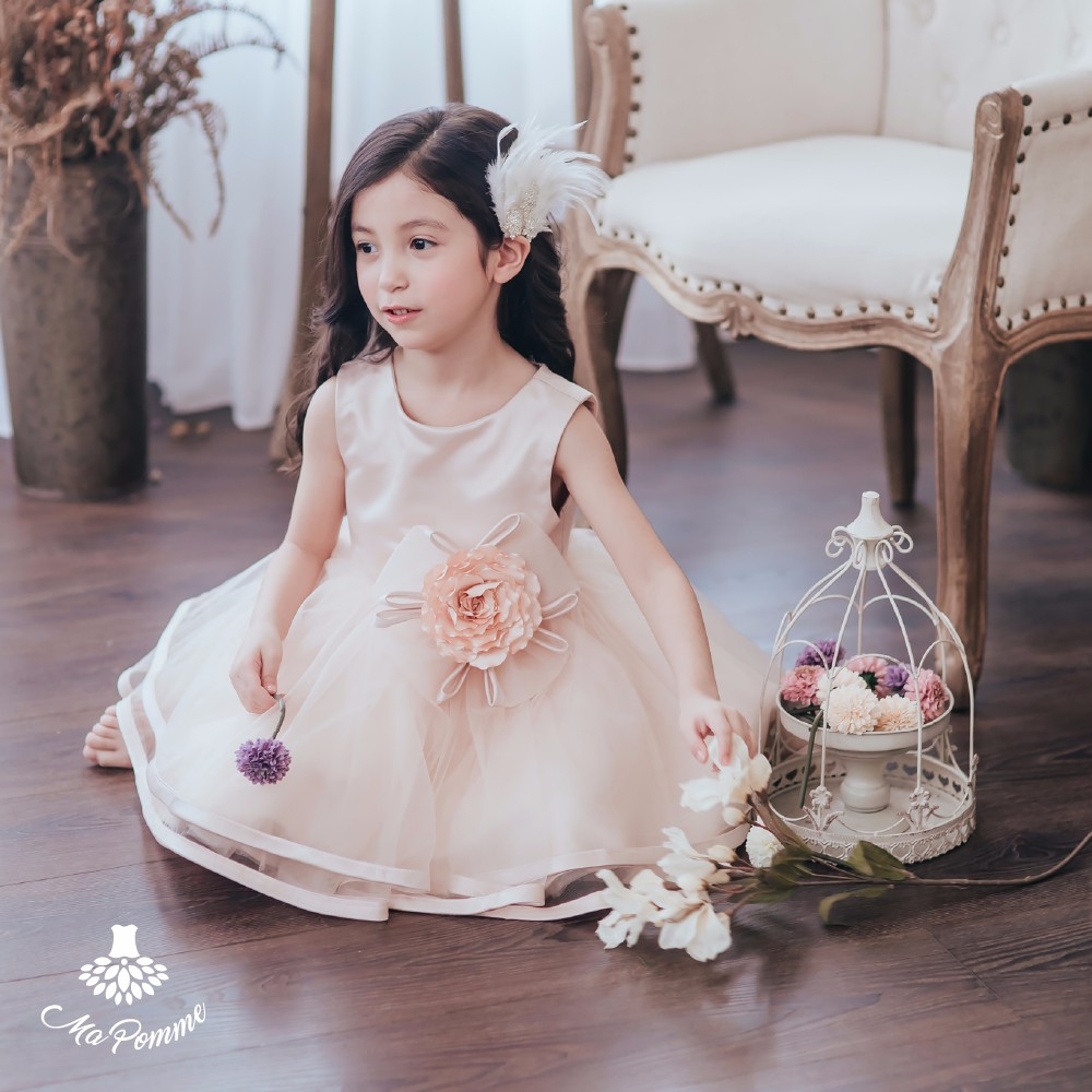 Special Occasion Dreamy Chioce Sleeveless Girls Frock
