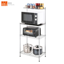 4 Tier Adjustable <strong>Shelf</strong> Boltless Multi-level Storage Metal Kitchen Rack