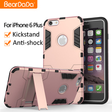 Shockproof for apple iphone 6 plus 5.5 inch robot armor case