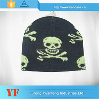 Low Cost High Quality 100% acrylic winter best sell 100% acrylic/cotton beanie knitted hat