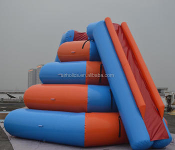 2015 Hot selling inflatable water park games, inflatable water climbing rock W3007