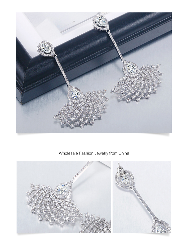 Luxury custom high quality special beautiful earring designs for women / girl