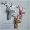 White Deer Head Home Decoration Polyresin