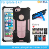 Wholesale Shockproof Rugged Hybrid Rubber Phone Case Cover For iPhone 6 6s Plus With Stand