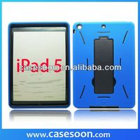 Combo Silicone Case For iPad 5,Hybird Case For iPad 5 Stand on Case